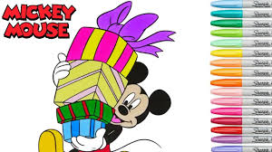 disney coloring book mickey mouse christmas colouring pages