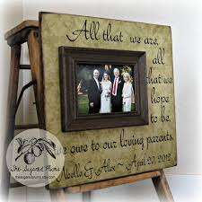 wedding gift parents parents thank you gifts wedding personalized picture frame