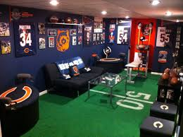 Small Bedroom Into Man Cave Chicago Bears Man Cave My Pictures Pinterest Chicago Bears
