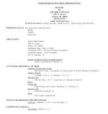 high resume for college admissions exles resume sle high resume for college admission exles