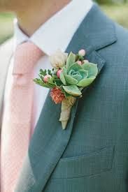succulent boutonniere a succulent boutonniere pairs well with a polka dot tie wedding