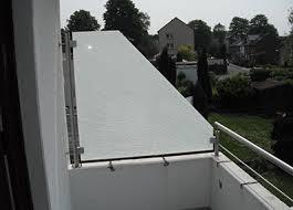 sichtschutz aus edelstahl sichtschutzzaun glas balkon terrasse - Balkon Sichtschutz Aus Glas