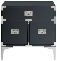 inspired home monica modern lacquer finish chrome metal leg side