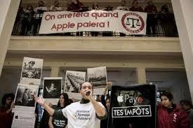 paris apple store activists occupy paris apple store over eu tax dispute