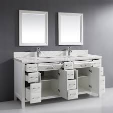 calais 75 inch transitional double sink bathroom vanity white finish