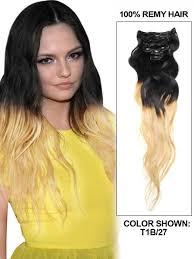 16 inch hair extensions inch strawberry and black ombre clip in hair