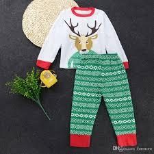 2018 pajamas baby david s deer clothing set