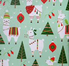 christmas wrap paper llama christmas wrapping paper gift wrap 10 ft x 2