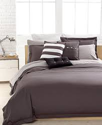 closeout lacoste solid grey brushed twill comforter and duvet