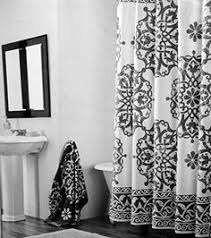 Luxury Shower Curtain White Cotton Shower Curtain Fabric Tahari Home Milan Scroll Large Medallion