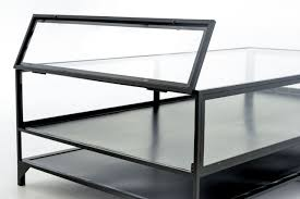 Glass Display Coffee Table Shadow Box Coffee Table Glass Dans Design Magz Unique And