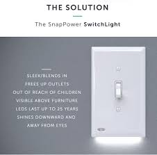 light switch cover night light the snappower switchlight turns your light switch into a nightlight