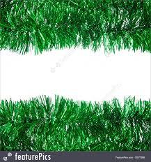 christmas tinsel holidays green christmas tinsel frame stock picture i3877699 at