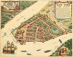 New York On Us Map by New York In 1674 Lower Manhattan Vintage Map Battlemaps Us