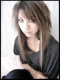 hairstyles short on top long on bottom long gothic haircuts for girls long hair on bottom and short on