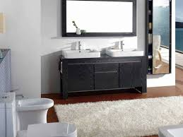 Bathroom Vanities  Marvelous Bathroom Vanities With Black Wooden - Bathroom vanities double vessel sink