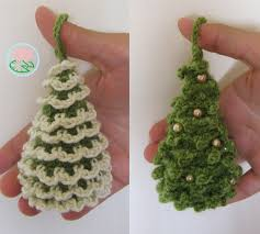 amigurumi christmas trees ornaments 2 designs crochet knit