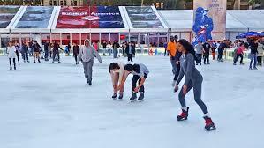 ice skating rink in bryant park new york city youtube