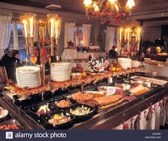 traditional buffet sweden stockholm traditional christmas buffet restaurant stock