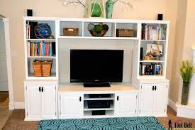 Remodelaholic Build A Custom Corner Remodelaholic Pottery Barn Media Center Building Plans 23 With
