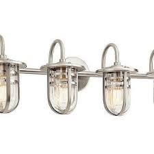 Antique Bulb  Light Brushed Nickel Bathroom Vanity Light - Bathroom vanity lighting brushed nickel