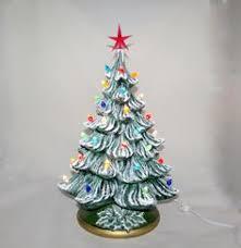 ceramic christmas tree light kit medium vintage style glazed ceramic christmas tree 13 inches with
