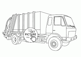 realistic garbage truck coloring page for kids transportation