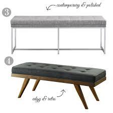 stylish upholstered benches under 200 confettistyle