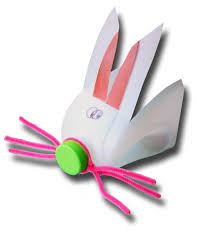 paper crafts for children recycled milk bottle bunny