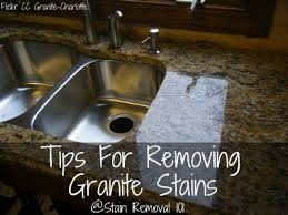 How To Remove A Kitchen Countertop - tips for removing granite stains from countertops u0026 more