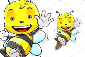 cute honey bee cartoon character illustrations creative market