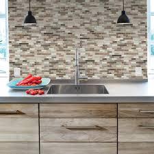 decorative wall tiles kitchen backsplash inspiring smart tiles muretto durango 10 20 in w x 9 h peel and home