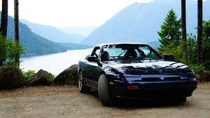 nissan 240sx wallpaper mountains waterfall sunset beach glowing dog