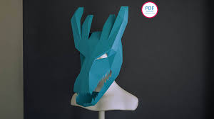 dragon papercraft 3d papercraft papercraft template dragon mask