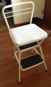 Yellow Retro Kitchen Chairs - yellow retro step stool chair cabinet hardware room bold