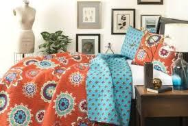 blue and orange bedding geometrical blue and orange cotton bedding set ebeddingsets