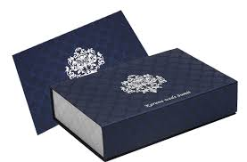 card box in exquisite blue and silver colour