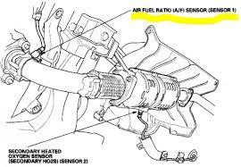 2004 honda accord oxygen sensor honda accord 2006 4 cylinder where the bank 1 o2 sensor is
