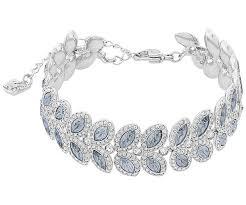 bracelet crystal silver images Baron bracelet blue rhodium plating jewelry swarovski online jpg