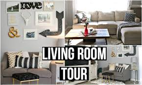 monochrome home decor living room tour 2016 affordable home decor youtube