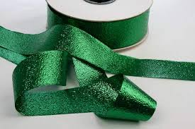 emerald green ribbon emerald green foil embossed metallic ribbon 350 yards st