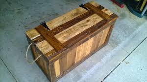 false bottom trunk from reclaimed wood pallets 7 steps with