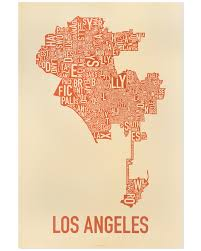 Los Angeles City Limits Map by Los Angeles Neighborhood Map 24