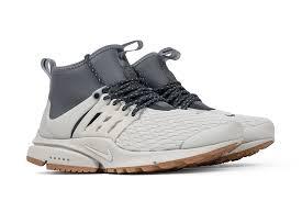 Nike Womens nike s air presto mid utility premium light bone cool grey