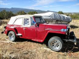 1948 willys jeepster willys jeepster kaiser built rare fire engine red super