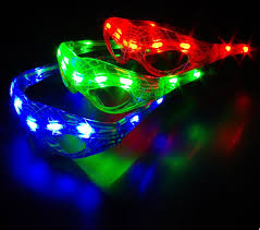 party sunglasses with lights new fashion spider man led flashing light up glasses glowing cosplay