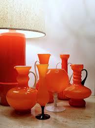 Vintage Orange Glass Vase 91 Best Orange Glass Images On Pinterest Colored Glass
