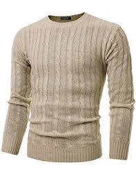 cable sweater givon mens slim fit cable knit sleeve crew neck pullover