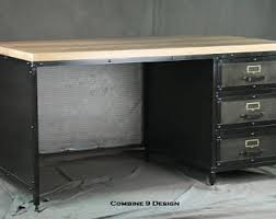 Modern Industrial Desk Industrial Desk Etsy