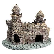 cheap wholesale aquarium castle ornament castle tower fish